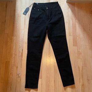 Super high rise black jeans